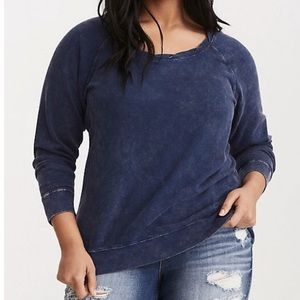 Torrid | Pigment Dye Zip Back Sweater